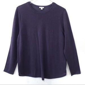 J. Jill 100% Merino Wool Crew Neck Sweater size L